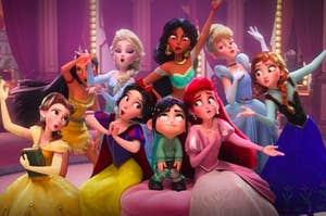 Vanellope and all the princesses