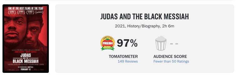 Screenshot of the Rotten Tomatoes site showing a 97% rating for the movie