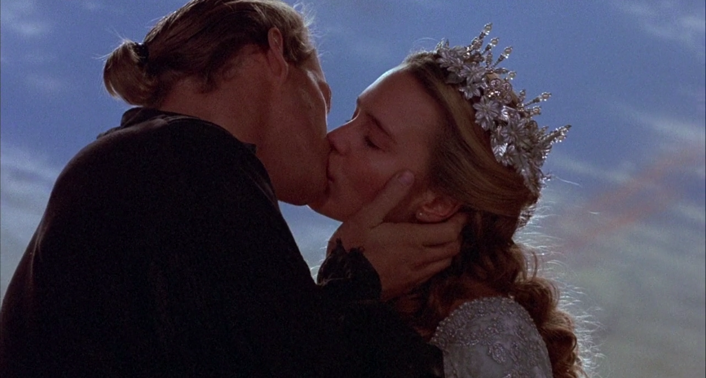 Westley and Buttercup kissing