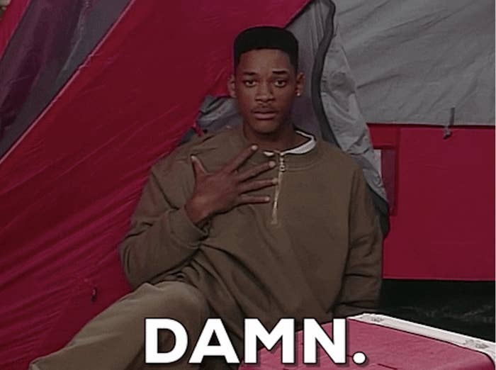 "Will Smith saying, ""damn"""