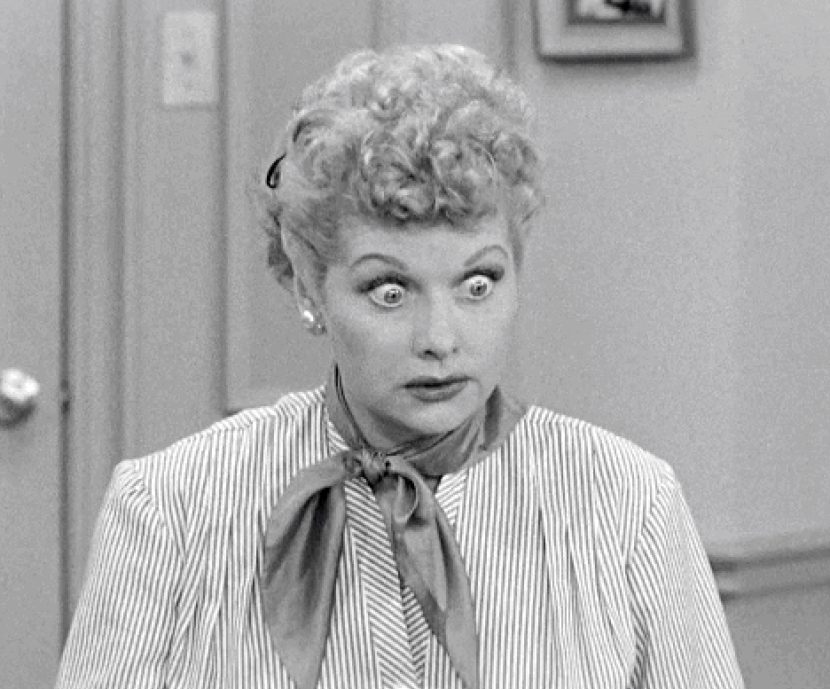 shocked lucille ball