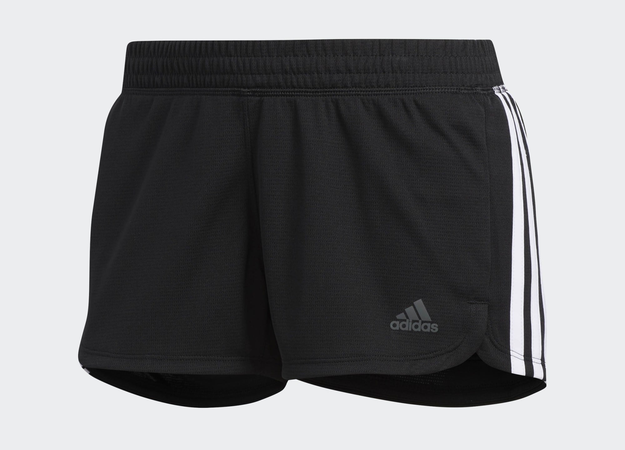 black and white adidas shorts with a short inseam