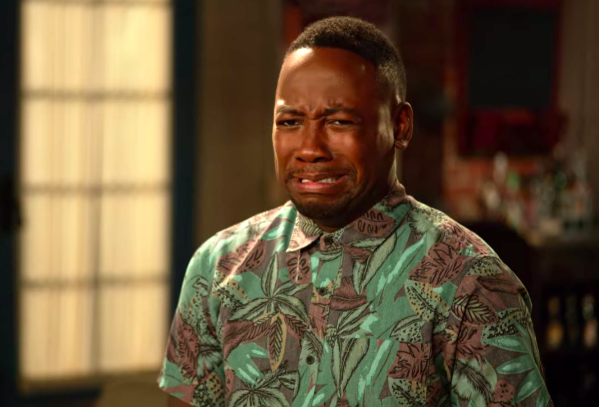 "Winston from ""New Girl"" crying"
