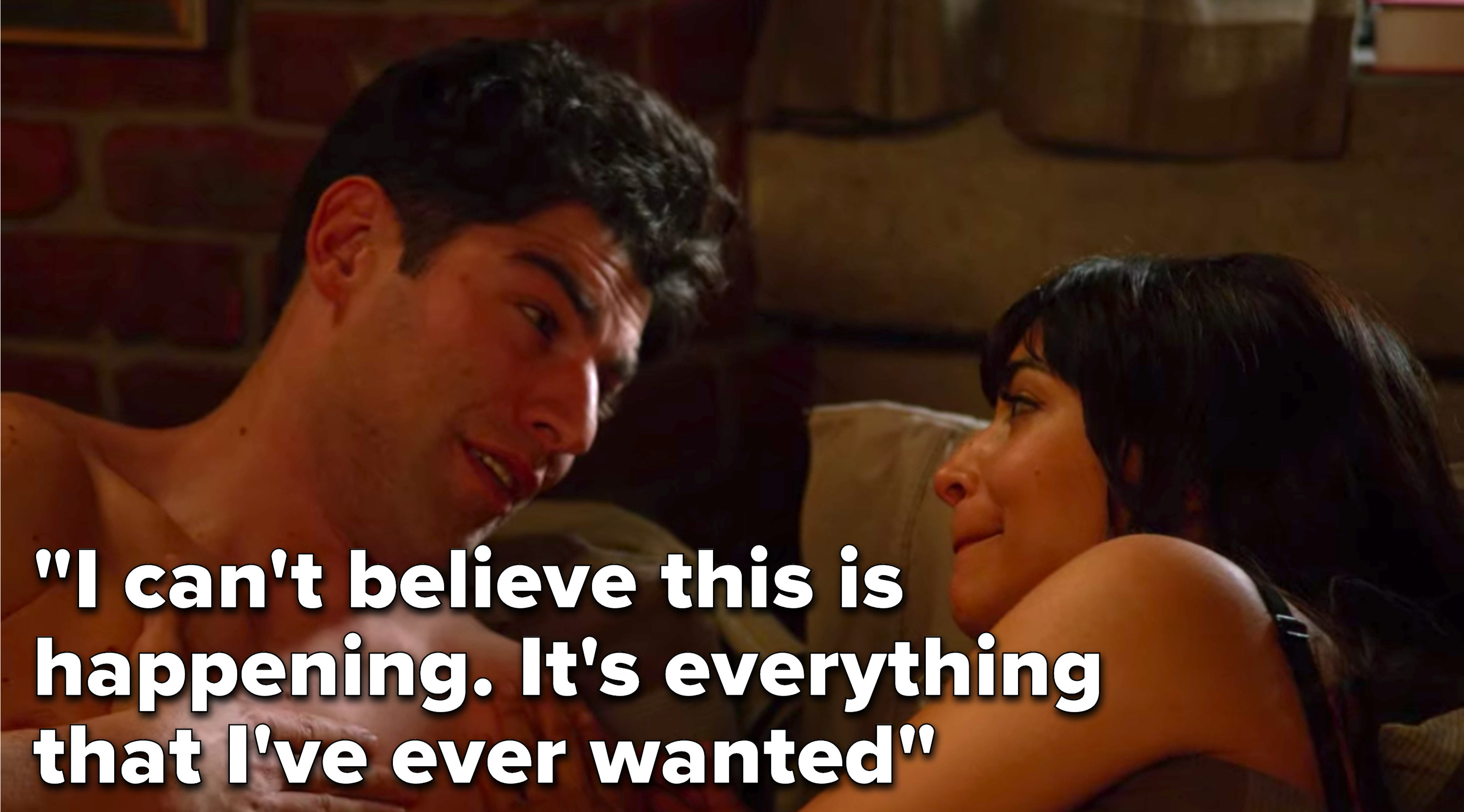 "Schmidt from ""New Girl"" saying, ""I can't believe this is happening, it's everything that I've ever wanted"""