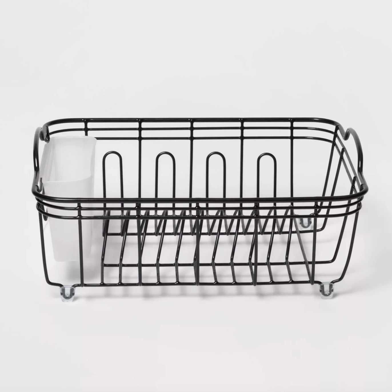 The steel dish drainer in black
