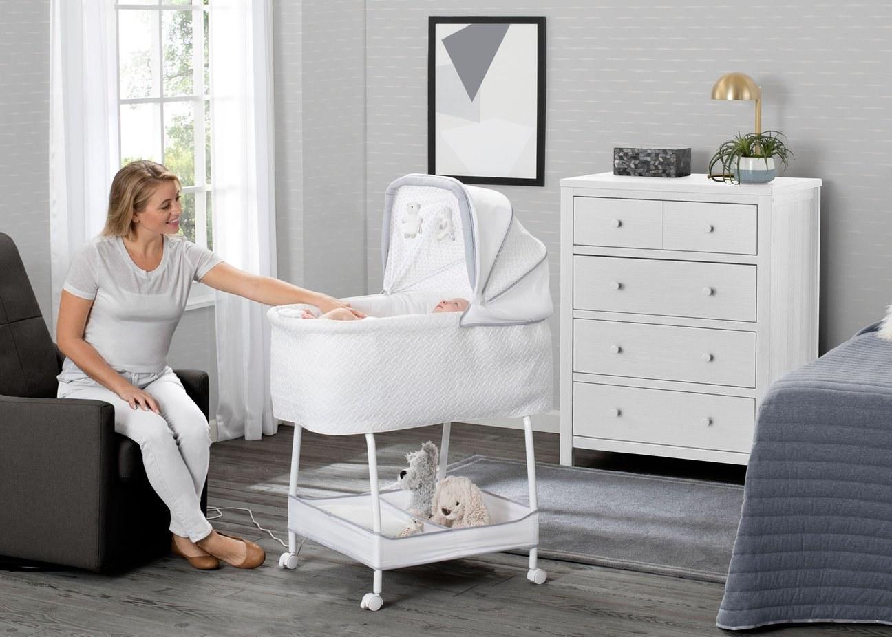 a white bassinet
