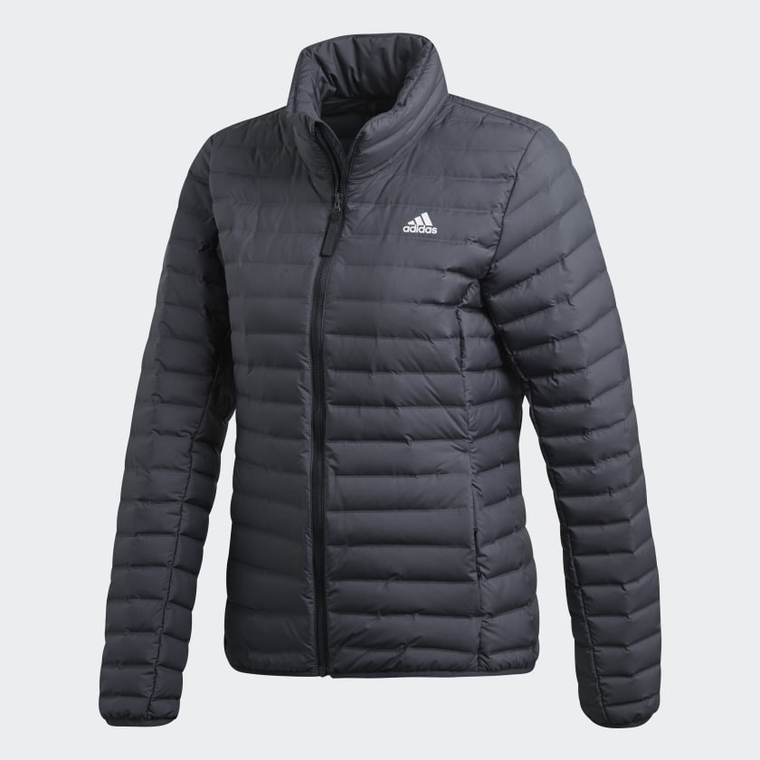 black down jacket with a puffy design