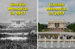 the lincoln memorial then and now