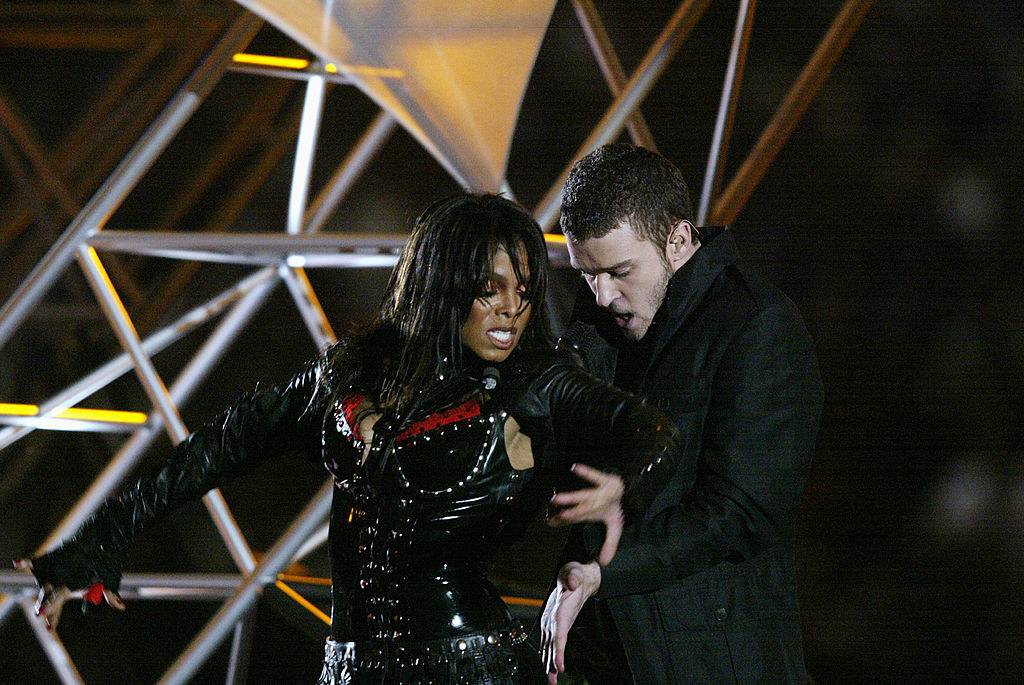 Justin and Janet performing at the Super Bowl