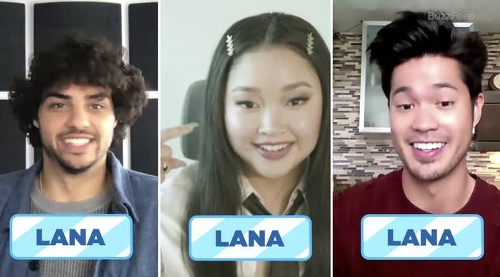 "Noah, Lana, and Ross all answered ""Lana"""