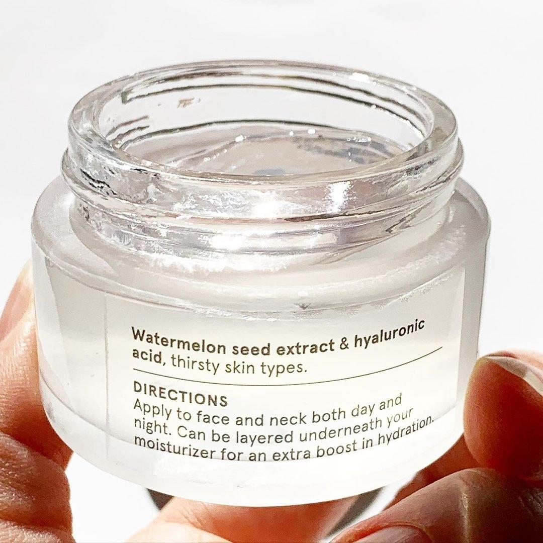 jar of clear moisturizer