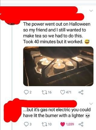 person who does not know how an oven works