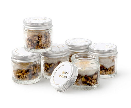 six jars of stimulating aromatherapy inhalers