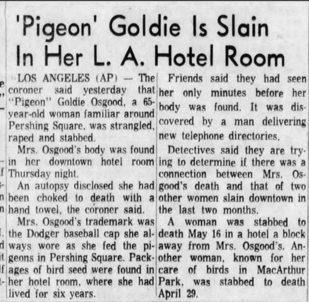 A news clipping from the San Bernardino County Sun