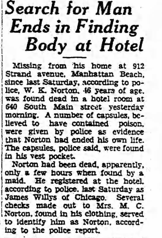 A news clipping from the Los Angeles Times