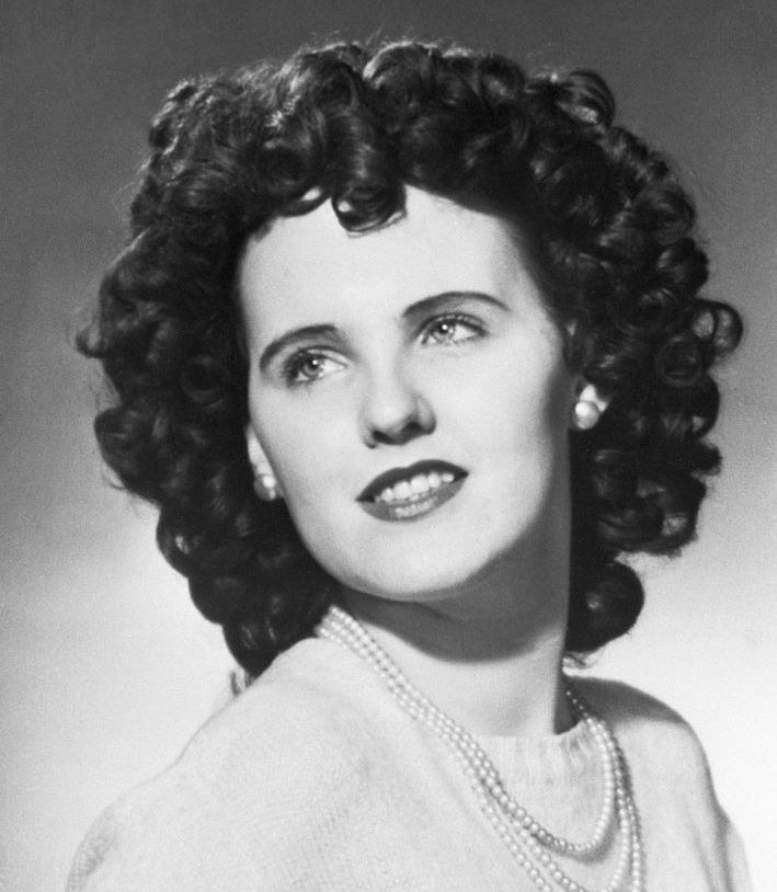 Archived headshot of Elizabeth Short, aka the Black Dahlia
