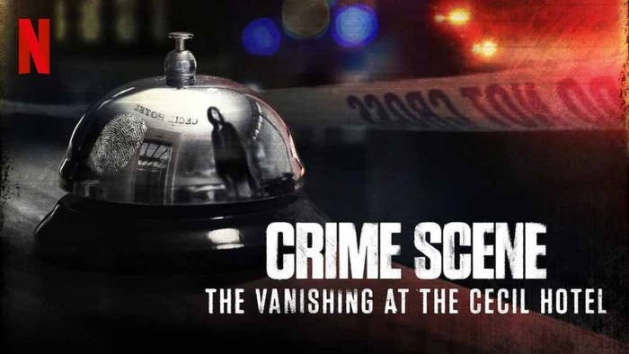 """Promotional still for """"Crime Scene: The Vanishing at the Cecil Hotel"""""""
