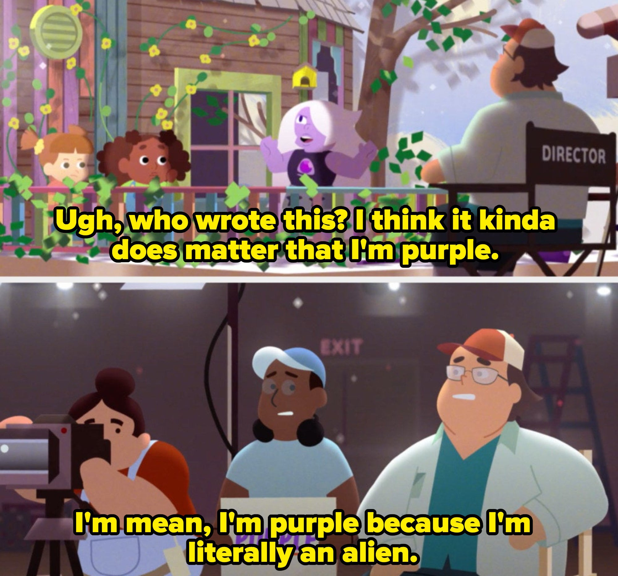 """amethyst asks """"who wrote this?"""""""