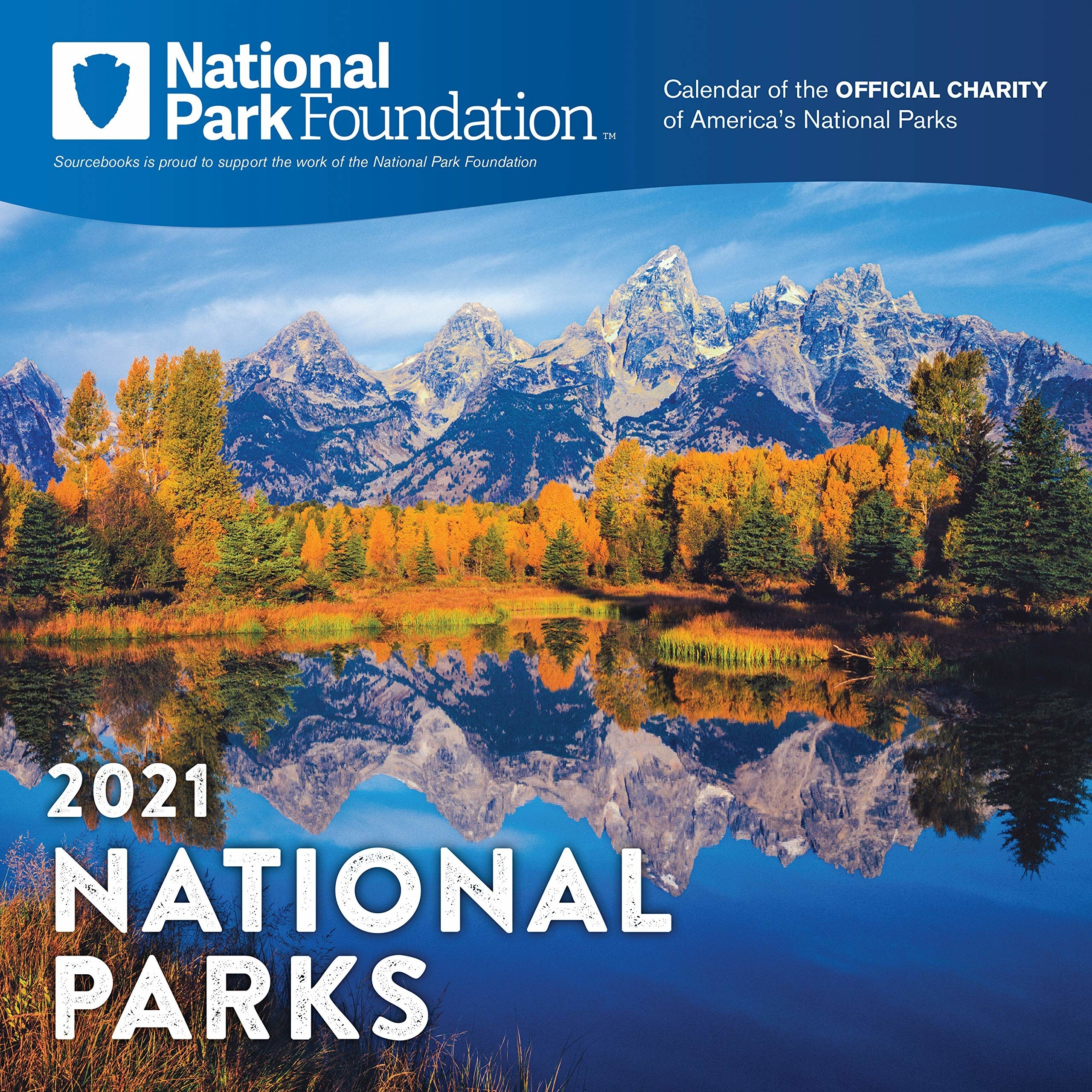 mountain range on the cover of the calendar