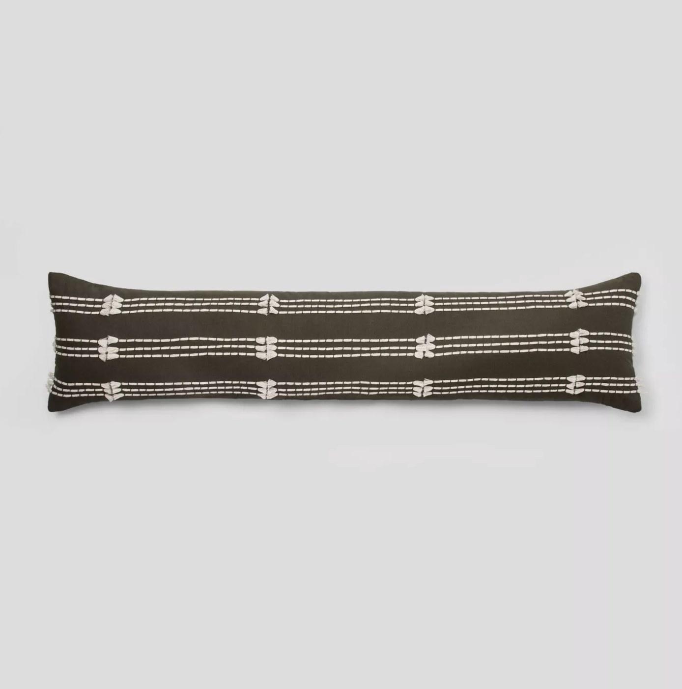 A lumbar pillow