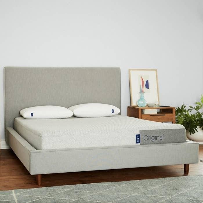 a casper mattress on a bed