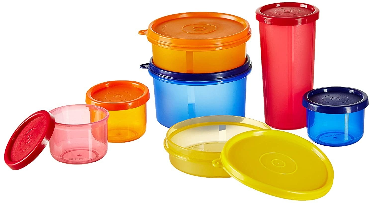A set of 7 airtight food storage containers