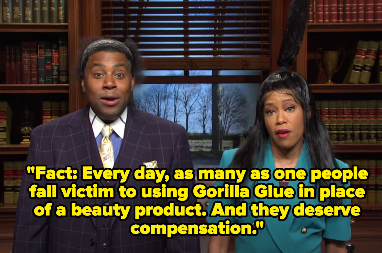 """""""Fact: Every day, as many as one people fall victim to using Gorilla Glue in place of a beauty product. And they deserve compensation"""""""