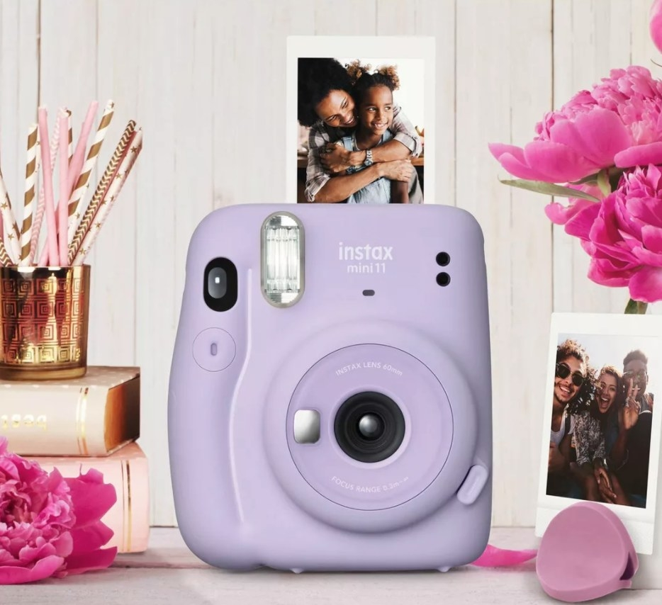 The camera in lilac