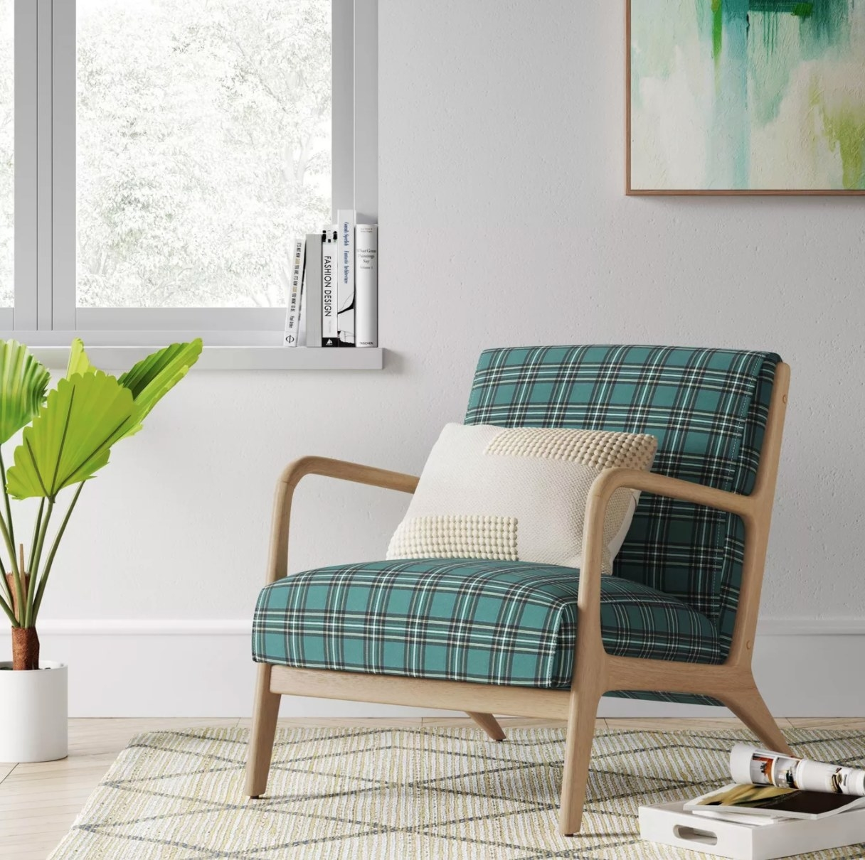 The plaid armchair