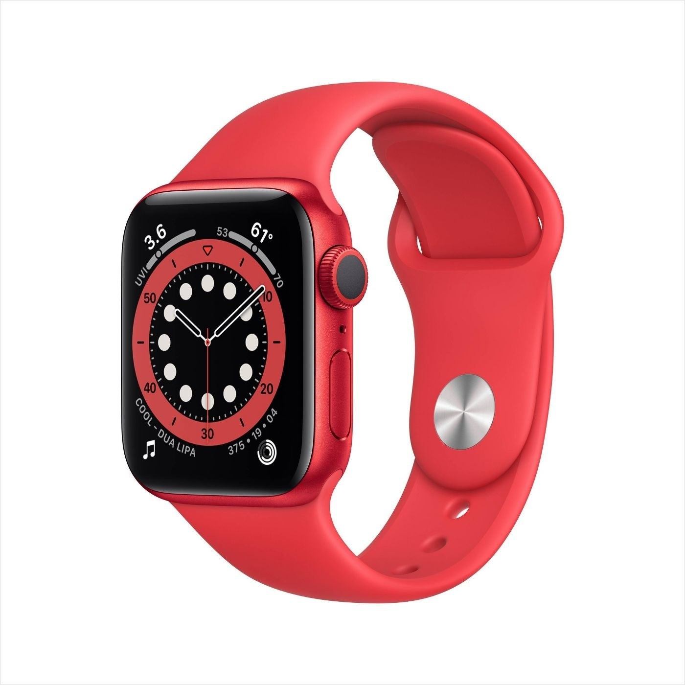 the watch in red