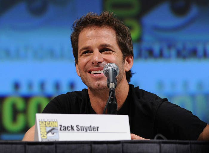 Zack Snyder at a panel at San Diego Comic-Con