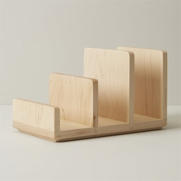 The wooden separator with three slots