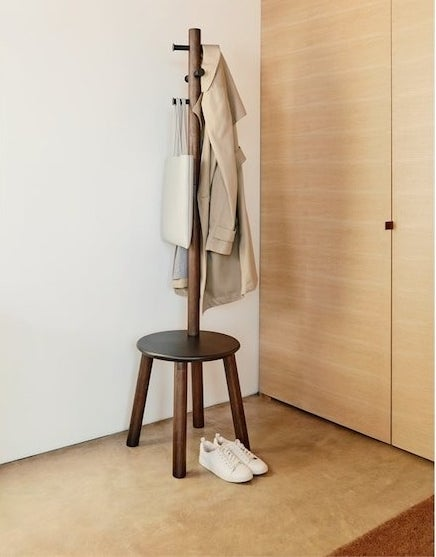 A stool coatrack combo