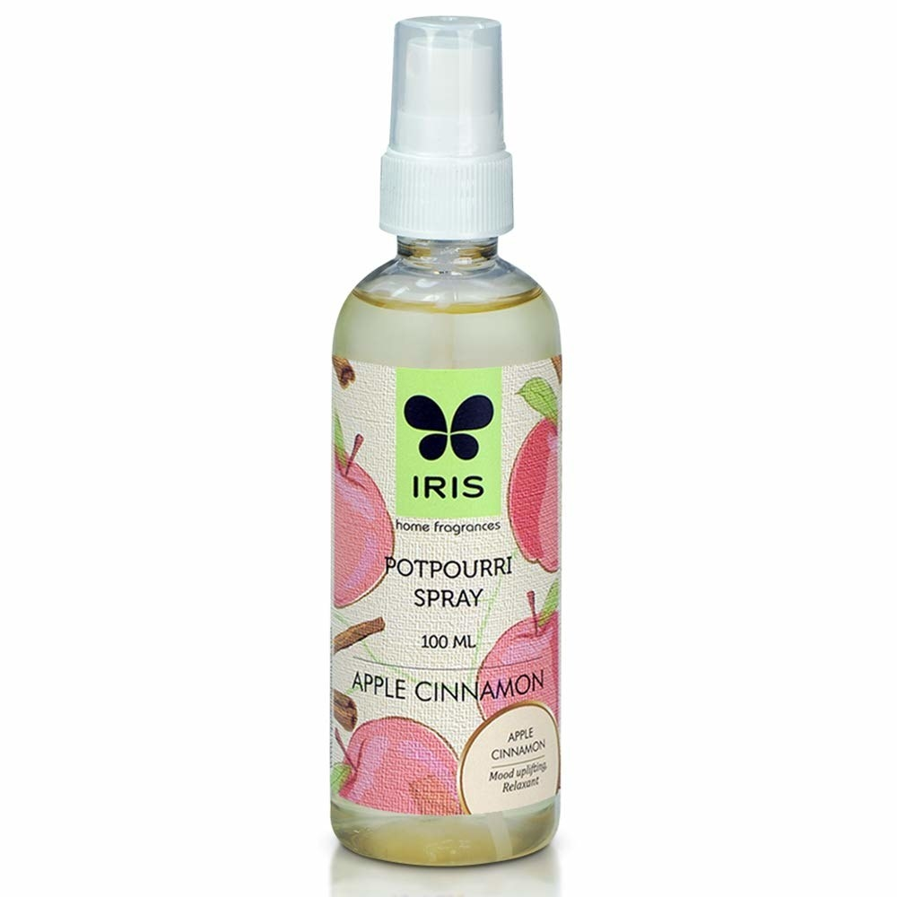 Bottle of the apple cinnamon scented spray