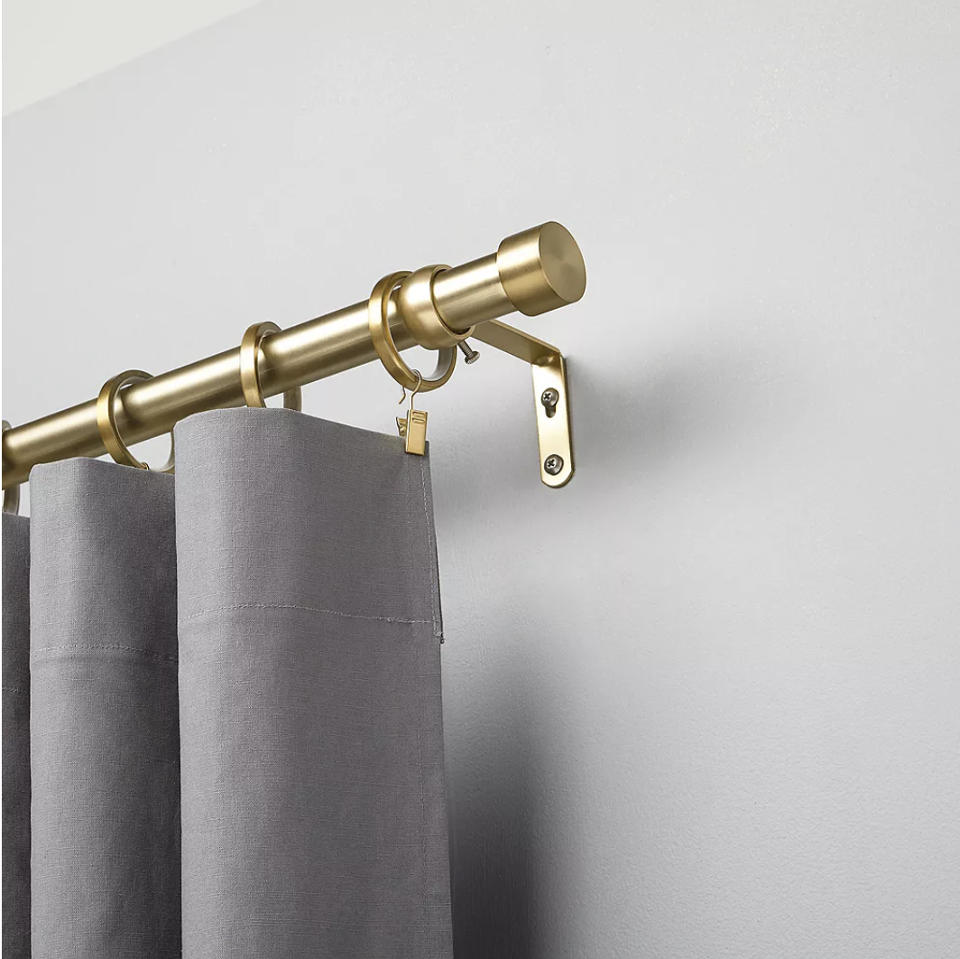 the curtain rod