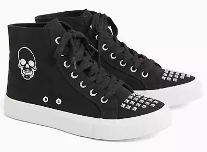 skull studded high top sneakers