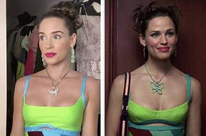 Young Jenna dressed up as older Jenna from 13 going on 30