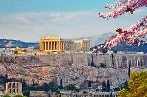 A beautiful and sunny Athens view