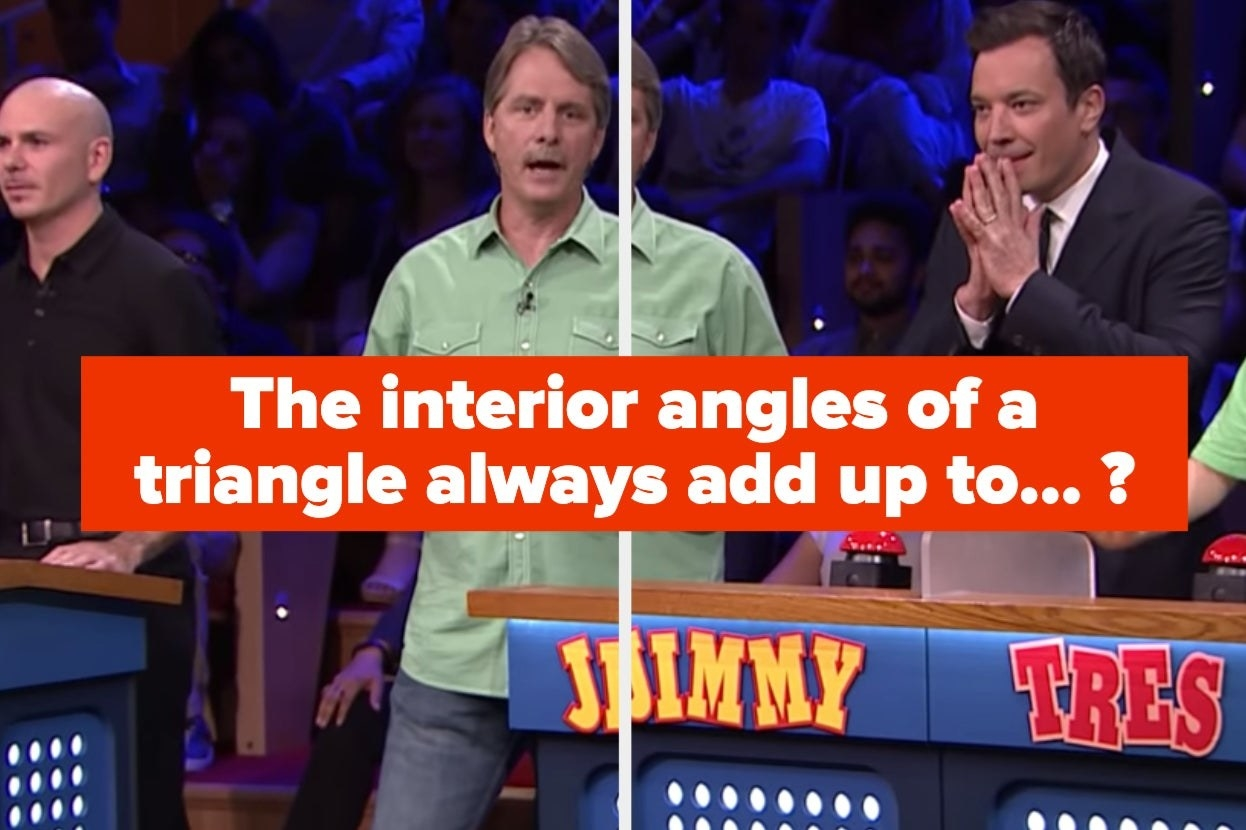 """Pitbull and Jimmy Fallon play a round of """"Are You Smarter Than A 5th Grader?"""" trivia with the host of the show, Jeff Foxworthy."""
