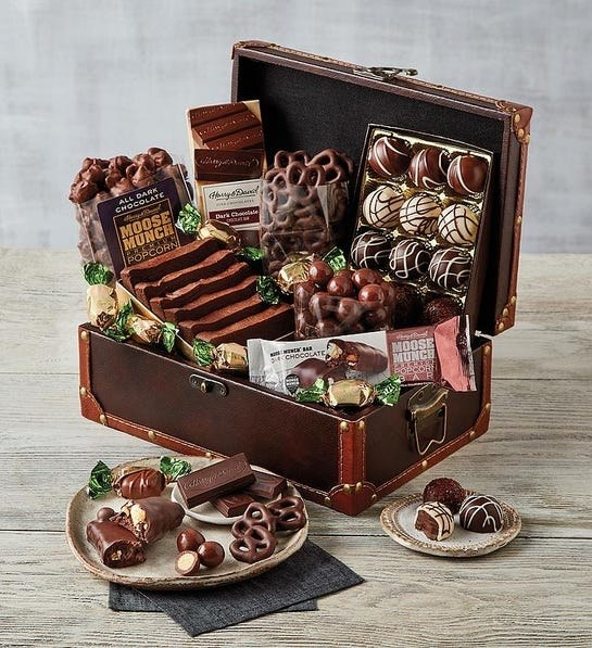 The treasure chest of an assortment of chocolates