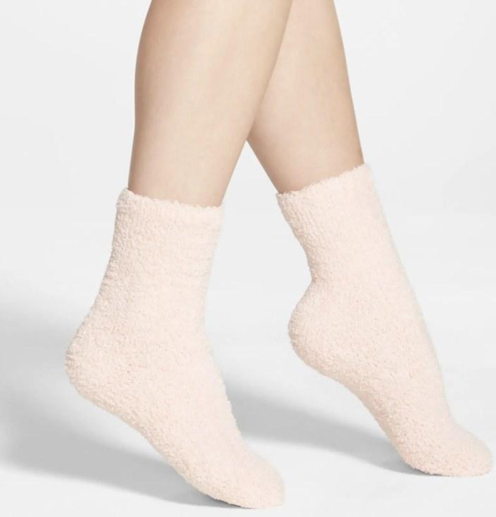 The pink fuzzy socks