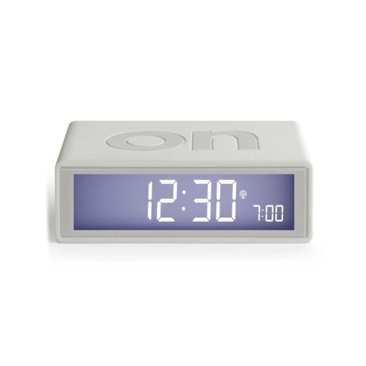 The alarm clock with the word ON on top