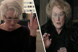 """Meryl Streep is posing as two characters from """"The Devil Wears Prada"""" and """"Series of Unfortunate Events"""""""
