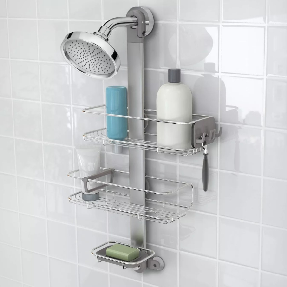 The shower caddy
