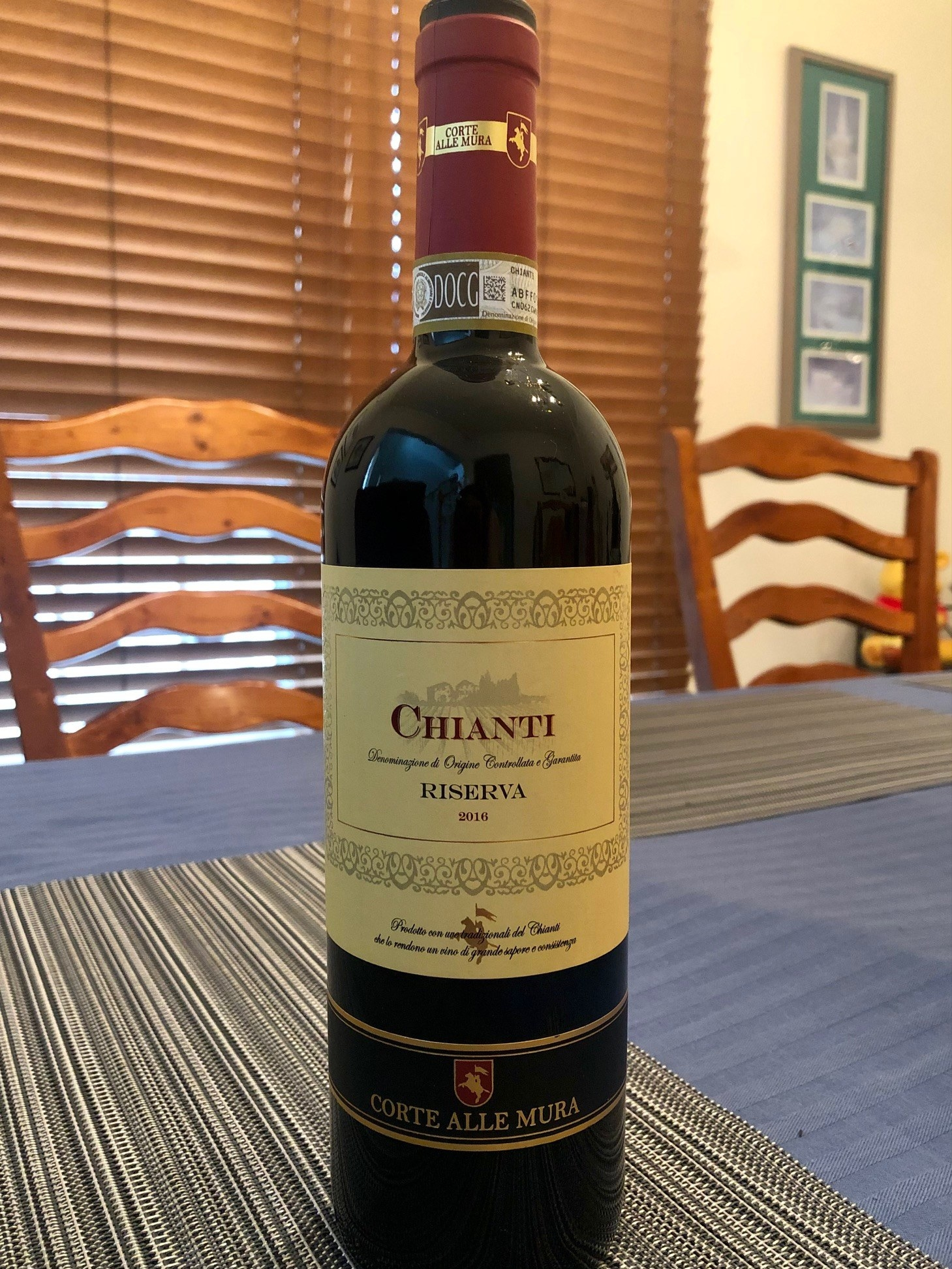 Bottle of Chianti wine