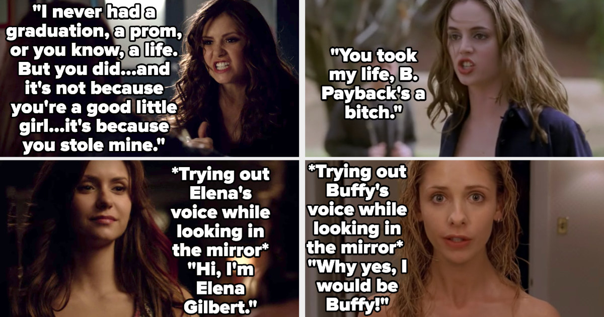 Katherine telling Elena she stole her life then pretending to be her in the mirror, and Faith doing the same in Buffy