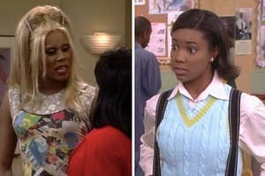 """Rupaul on """"Sister, Sister"""" side by side with Gabrielle Union on """"Sister, Sister"""""""