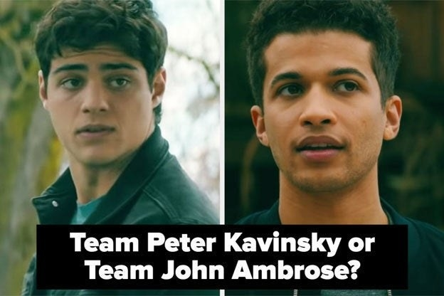 """Peter and John Ambrose with the words """"Team Peter Kavinsky or Team John Ambrose?"""""""