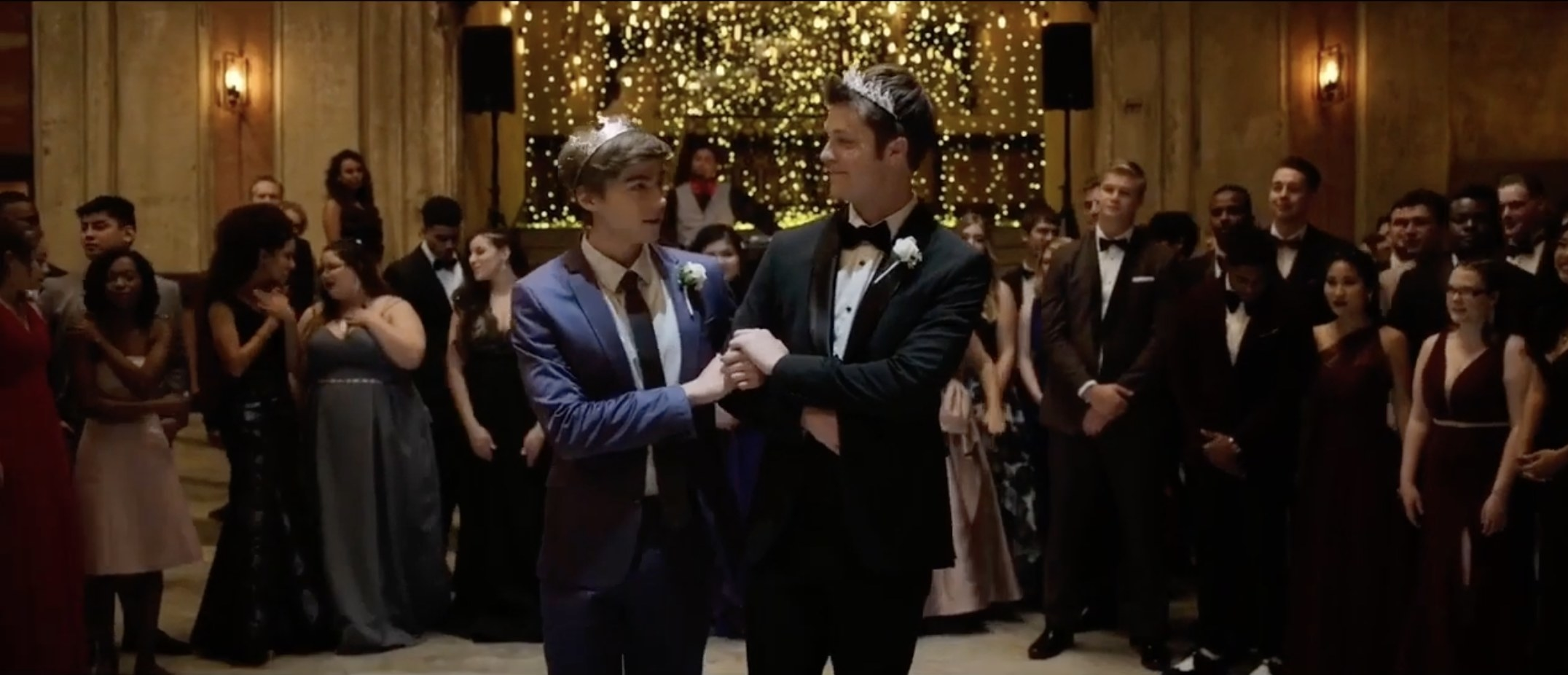 Alex and Charlie at prom in 13 Reasons Why