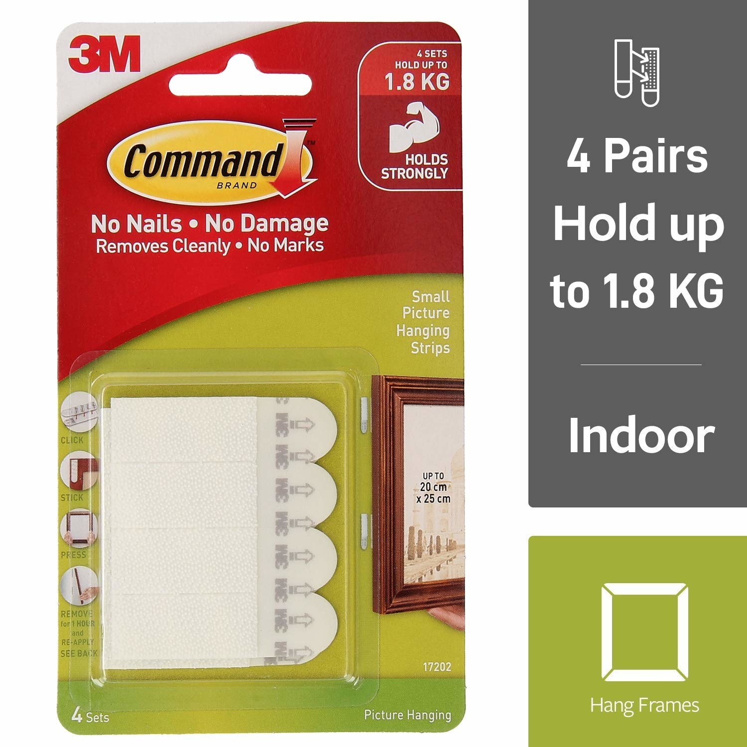 A set of Command picture hanging strips
